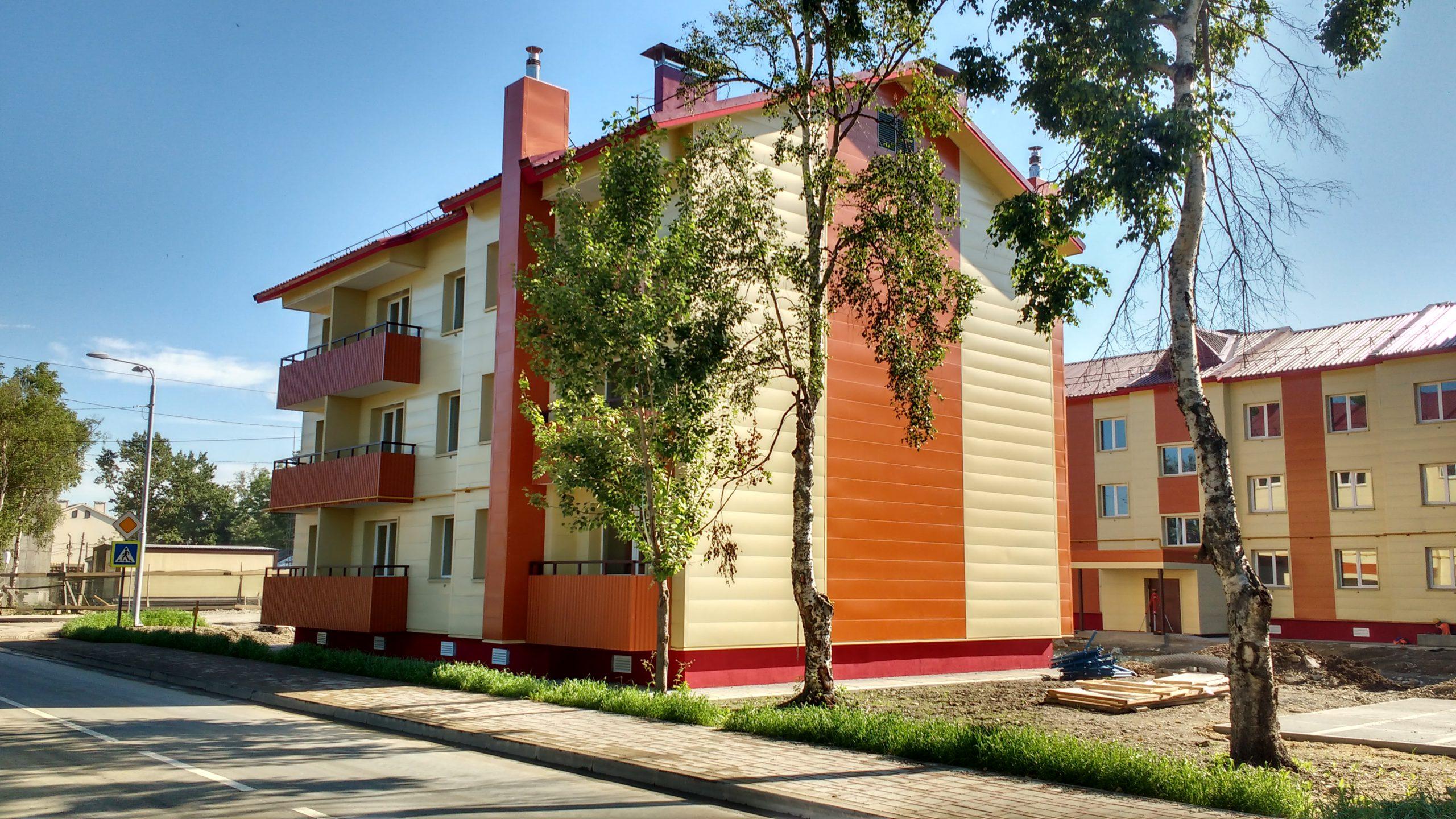 Строительство малоэтажных жилых домов в г.Южно-Сахалинске (25 мк, 3 очередь)