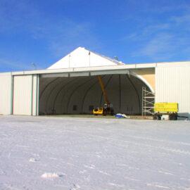 Строительство самолетного ангара в г. Южно-Сахалинске
