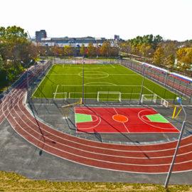 Спортивная площадка на территории МБОУ СОШ №8» в г. Южно-Сахалинске